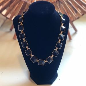 J Crew black and gold necklace